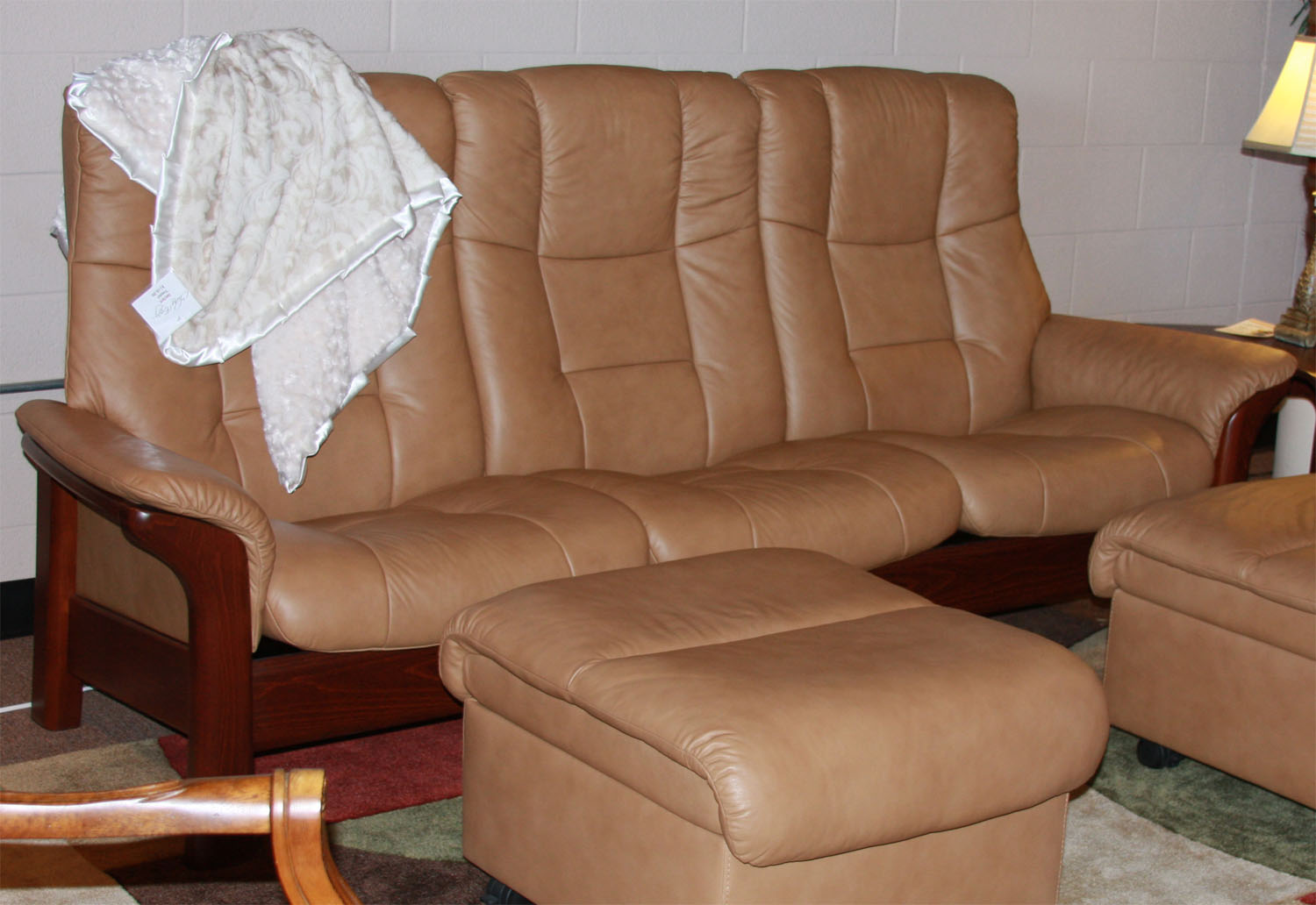 Stressless Buckingham 3 Seat High Back Sofa Paloma Taupe Color ...
