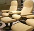 Stressless Consul Batick Latte Leather Recliner Chair and Ottoman