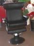 Stressless Jazz Large Recliner and Ottoman - Paloma Black Leather