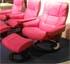 Stressless Kensington Large Mayfair Paloma Cerise Pink Leather Recliner