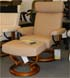 Stressless Orion Medium Recliner and Ottoman - Batick Leather