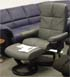 Stressless Oxford Recliner and Ottoman in Paloma Graphite by Ekornes