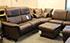 Paradise Royalin Dark Brown Leather Sectional Sofa