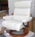 Stressless Savannah Large Recliner and Ottoman - Paloma Light Grey Leather by Ekornes