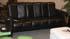 Stressless Soul Low Back Royalin Black Leather 3 Seat Sofa
