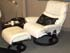 Stressless Spirit Recliner and Ottoman - Oasis White Fabric