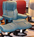 Stressless Chelsea Small Mayfair Recliner Chair and Ottoman