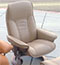 Stressless Diplomat Small Consul Paloma Sand Leather Recliner Chair and Ottoman