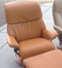 Stressless Dream Leather Recliner and Ottoman