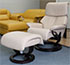 Stressless Dream Recliner Chair and Ottoman in Cori Passion Leather