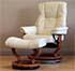 Stressless Mayfair Paloma Kitt Leather Recliner Chair and Ottoman
