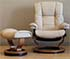 Stressless Mayfair Paloma Leather Recliner Chair and Ottoman
