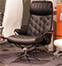 Stressless Metro Recliner Chair and Ottoman in Paloma Black Leather by Ekornes