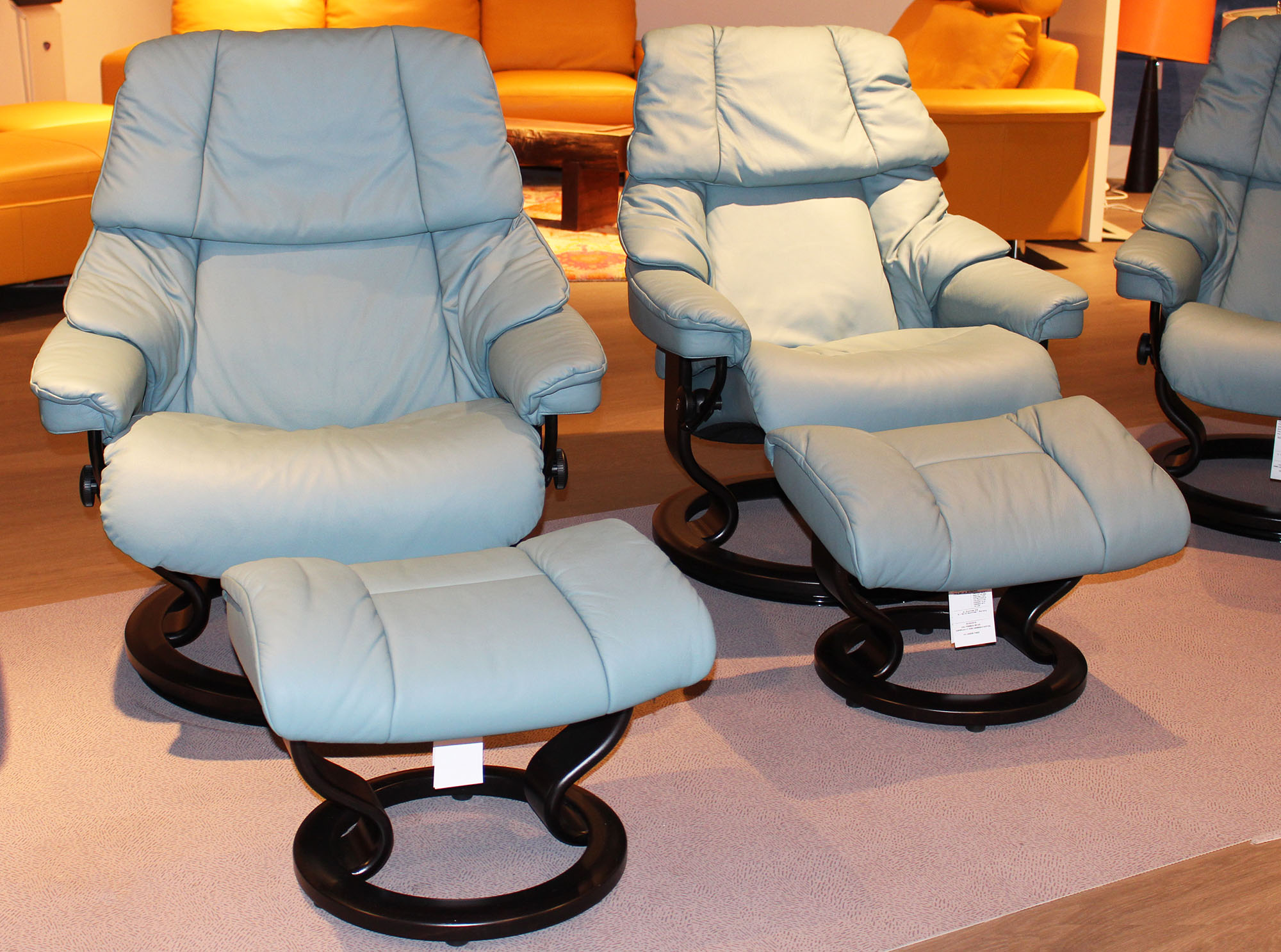 Ekornes chairs for sale stressless paloma indigo leather by ekornes - Stressless Paloma Aqua Green Leather Color From Ekornes
