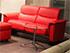 Stressless Panorama LoveSeat Sofa - Paloma Tomato Leather