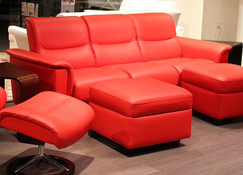 Stressless Panorama Sofa in Paloma Tomato 09461 Leather