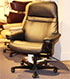 Stressless Sunrise Paloma Black Leather Office Desk Chair