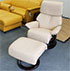 Stressless Vision Recliner Chair and Ottoman in Cori Passion Leather