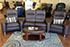 Stressless Wave Sofa Home Theater Sectional in Paloma Chocolate Leather