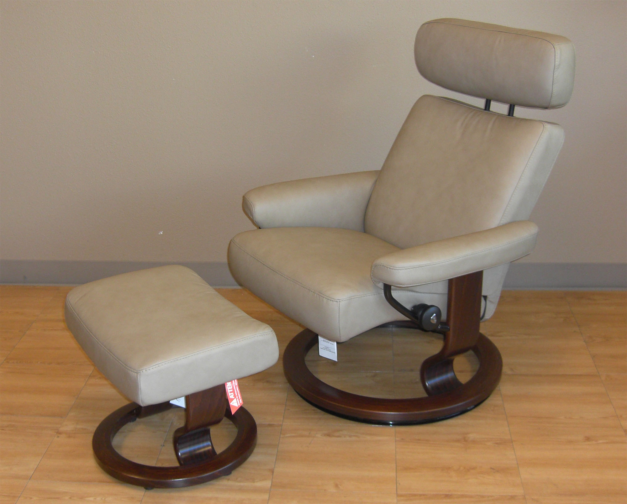 Wonderful Stressless Paloma Stone Leather Color Recliner Chair And Ottoman From  Ekornes