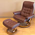 Stressless Royal Large Paloma Coffee Leather Recliner Chair and Ottoman