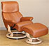 Stressless Vision Small Dream Leather Recliner Chair and Ottoman