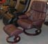 Stressless Tampa Small Reno Paloma Chocolate Leather by Ekornes