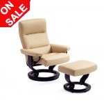 Stressless Pacific Recliner Chairs and Ottoman