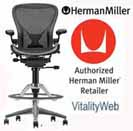Aeron Chair by Herman Miller for the Home.  Herman Miller Embody, Mirra, Celle, Eames Chairs and Eames Lounge Chair Seating.