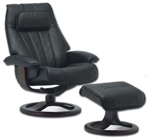 Fjords 940 Hellevik Ergonomic Recliner Chair and Ottoman