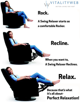 Fjords Ergonomic Swing Zero Gravity Relaxor Recliner Chair Norwegian Scandinavian Lounger