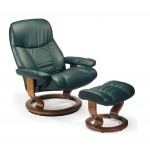 Stressless Ambassador Recliner chair and Ottoman by Ekornes