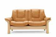 Stressless Buckingham Low Back Leather Sofa Ergonomic Loveseat Couch by Ekornes