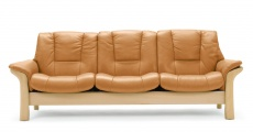 Stressless Buckingham Low Back Leather Sofa Ergonomic Couch by Ekornes
