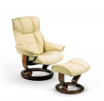 Stressless Mayfair Recliner Chair and Ottoman by Ekornes Furniture