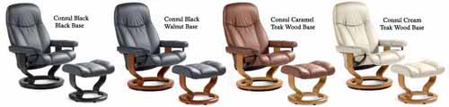 Stressless Diplomat Batick Leather Recliner Chair and Ottoman by Ekornes