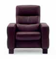 Stressless Wave 1 Seat High Back Sofa (Medium), LoveSeat, Chair and Sectional by Ekornes