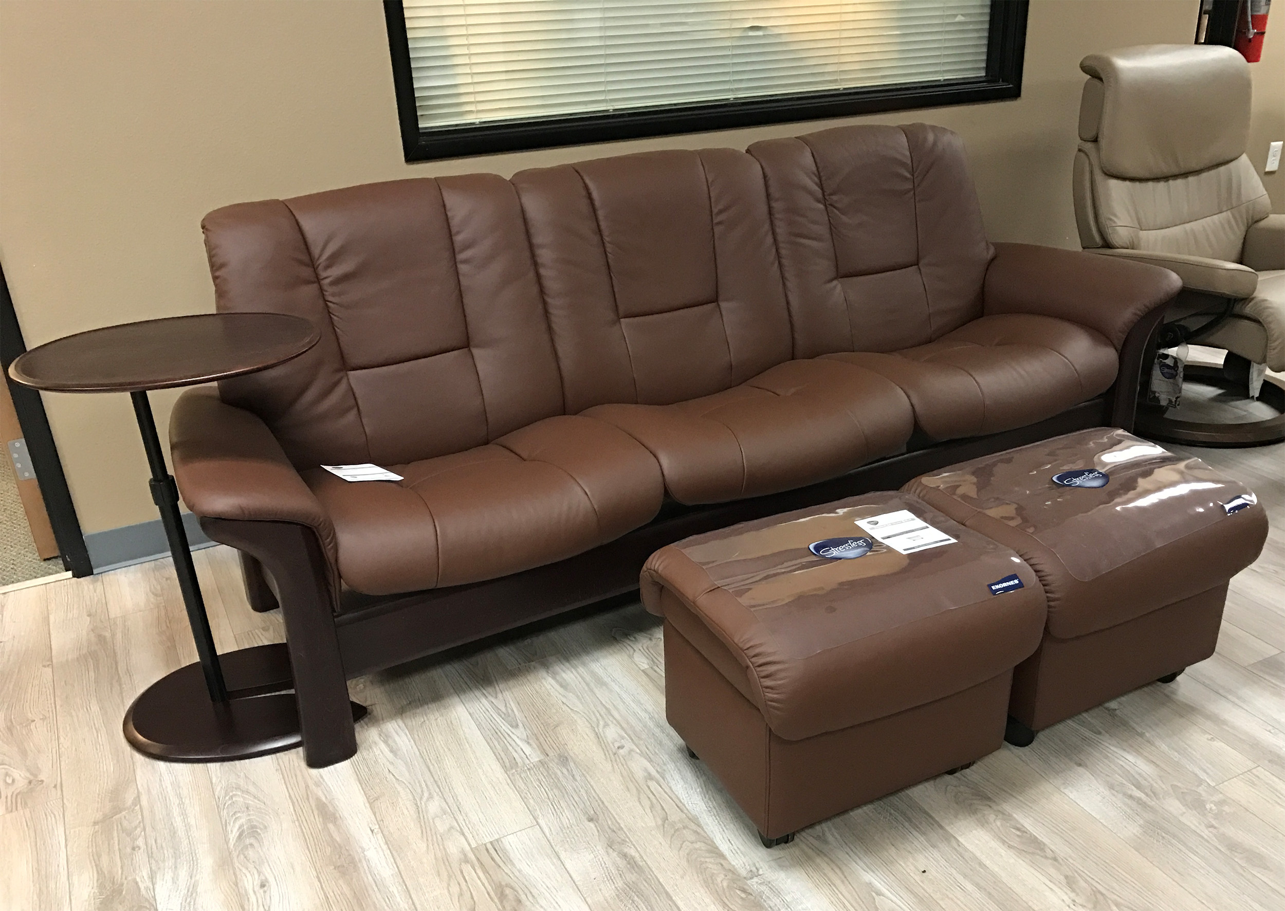 multiple walmart ip and plush vinyl ottoman recliner com set swivel mainstays colors pillowed leather with chair daae