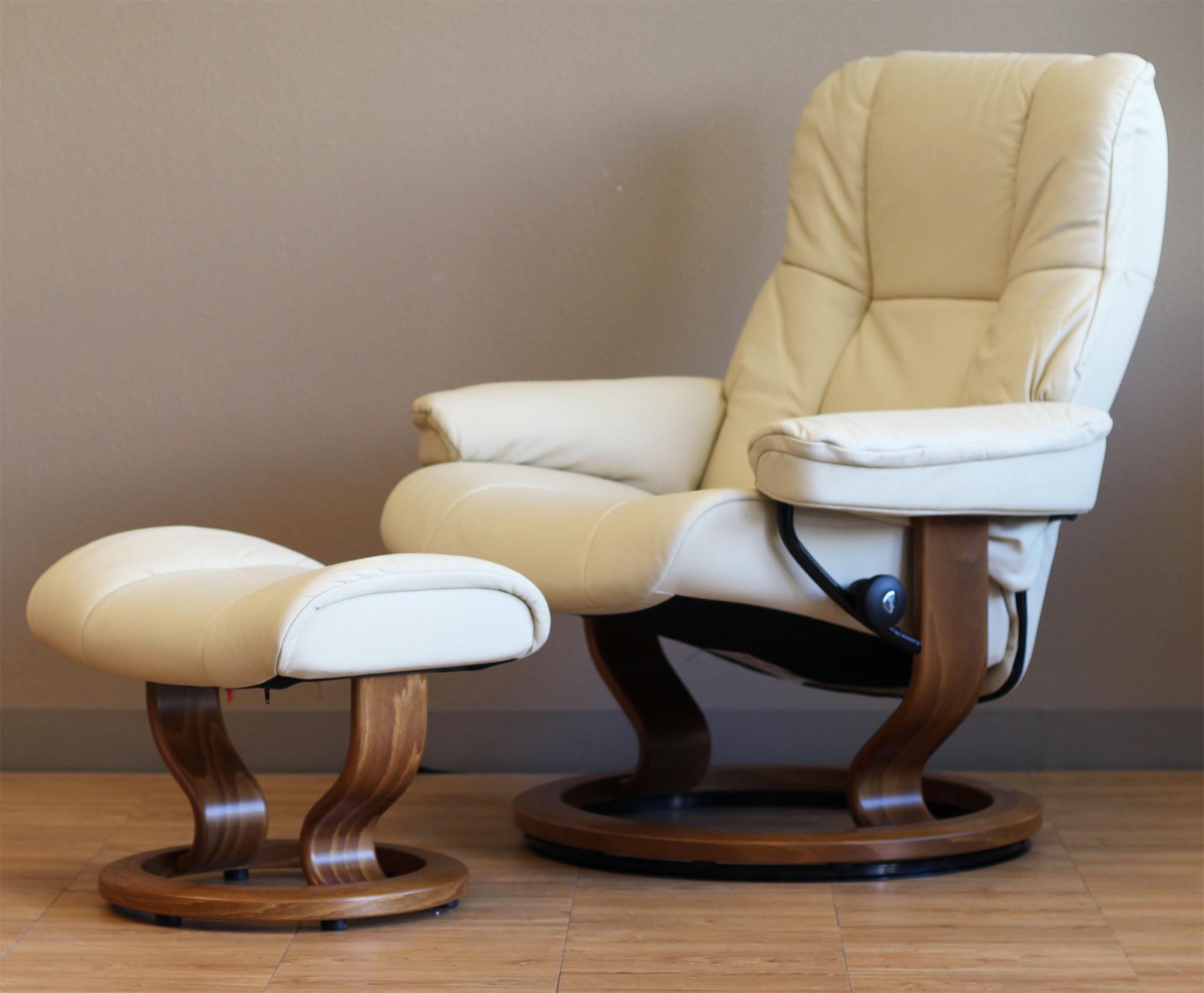 Marvelous Stressless Mayfair Paloma Kitt Leather Recliner Chair By Ekornes