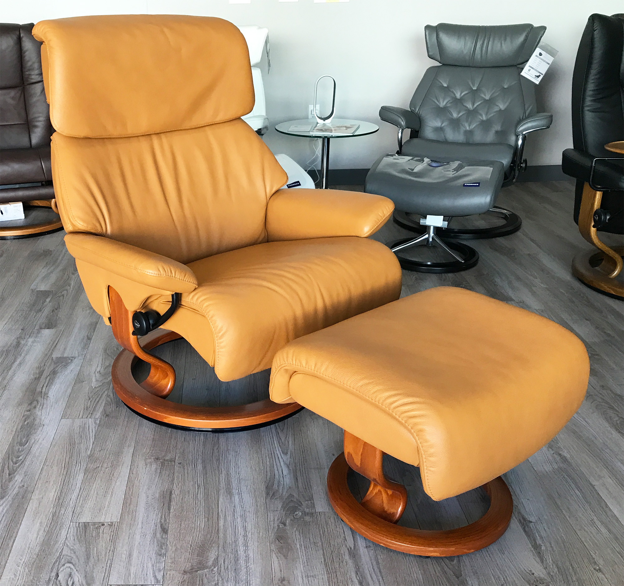 Stressless Spirit Large Dream Cori Tan Leather Recliner Chair By Ekornes