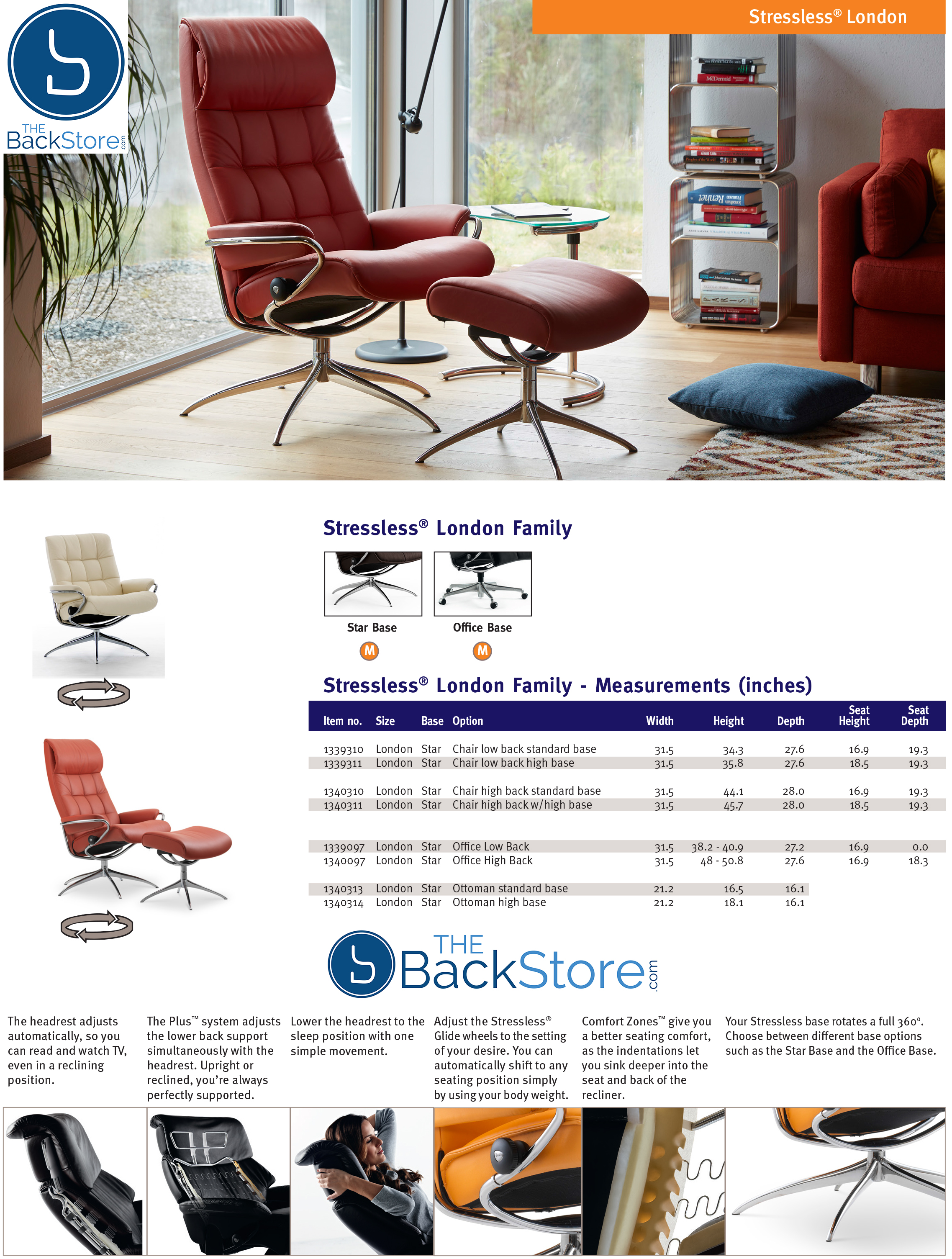 Wondrous Stressless London High Back Recliner Chair And Ottoman In Paloma Vanilla White Leather By Ekornes Machost Co Dining Chair Design Ideas Machostcouk