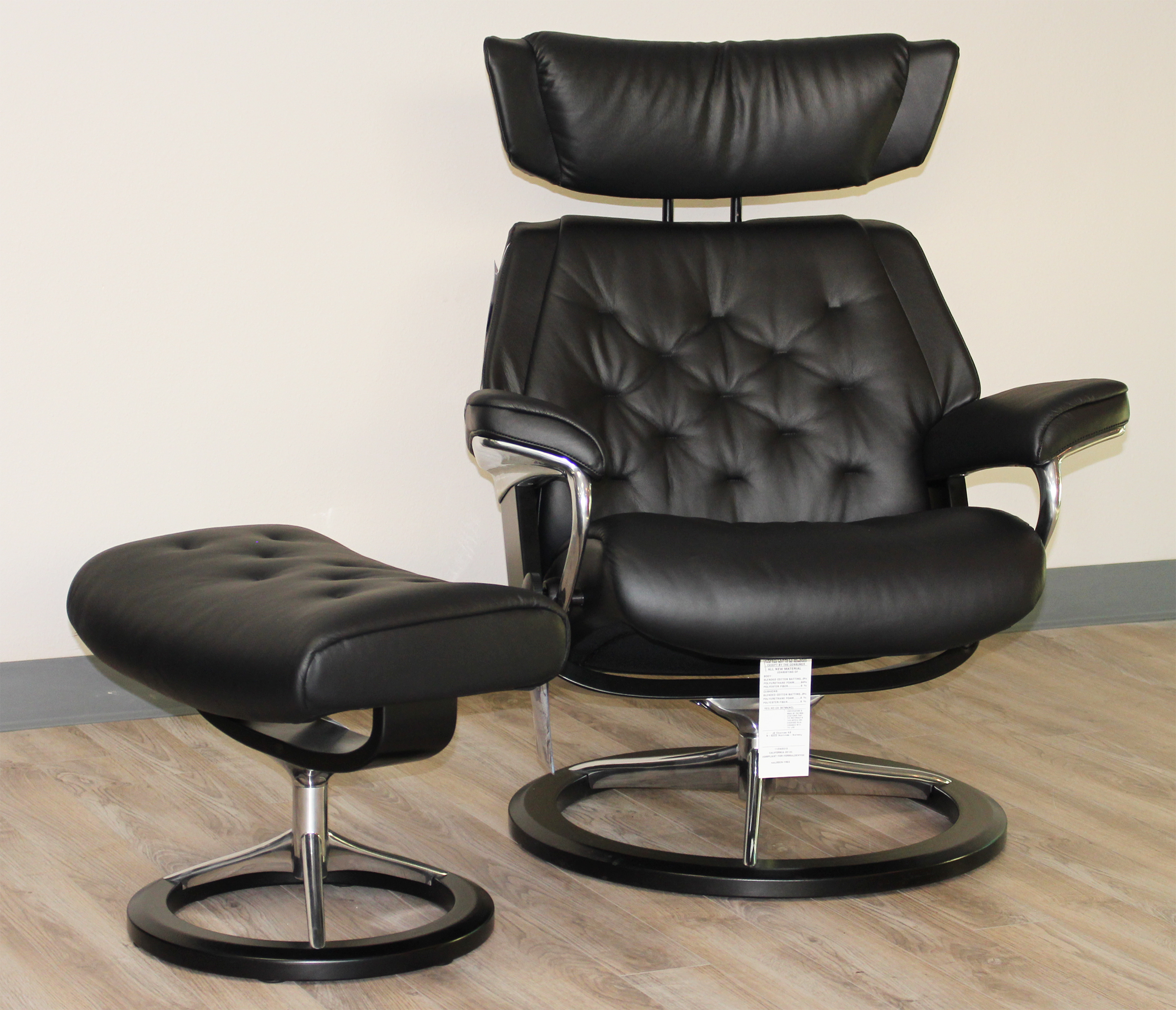 Strange Stressless Skyline Signature Base Medium Paloma Black Leather Recliner Chair And Ottoman By Ekornes Forskolin Free Trial Chair Design Images Forskolin Free Trialorg