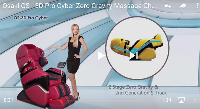 Osaki OS 3D Pro Cyber Massage Chair Zero Gravity Recliner Video