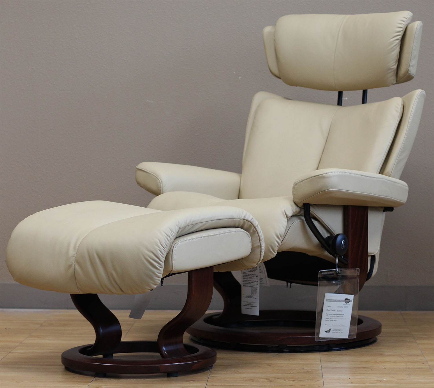 Superieur Stressless Magic Paloma Camel 09487 Leather Recliner From Ekornes