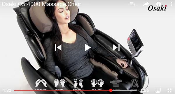 Osaki OS-4000 Massage Chair Recliner Video