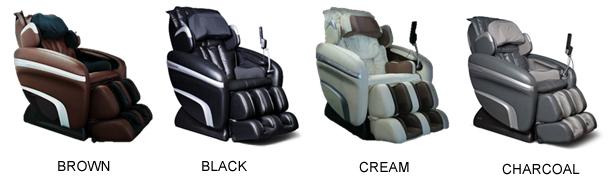 Osaki OS 7200H Executive Zero Gravity Massage Chair Recliner Colors