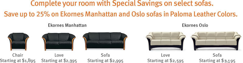 Stressless Manhattan And Oslo Clearance Sofa Loveseat Chair
