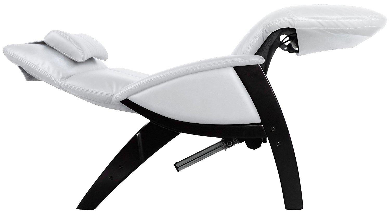 Svago SV400 Lusso Chair Zero Gravity Ivroy Leather Black Wood Recliner